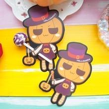 50pcs lollipop cover MR gentleman pumpkin Halloween Trick or treat candy decorate children sweet gift packaging
