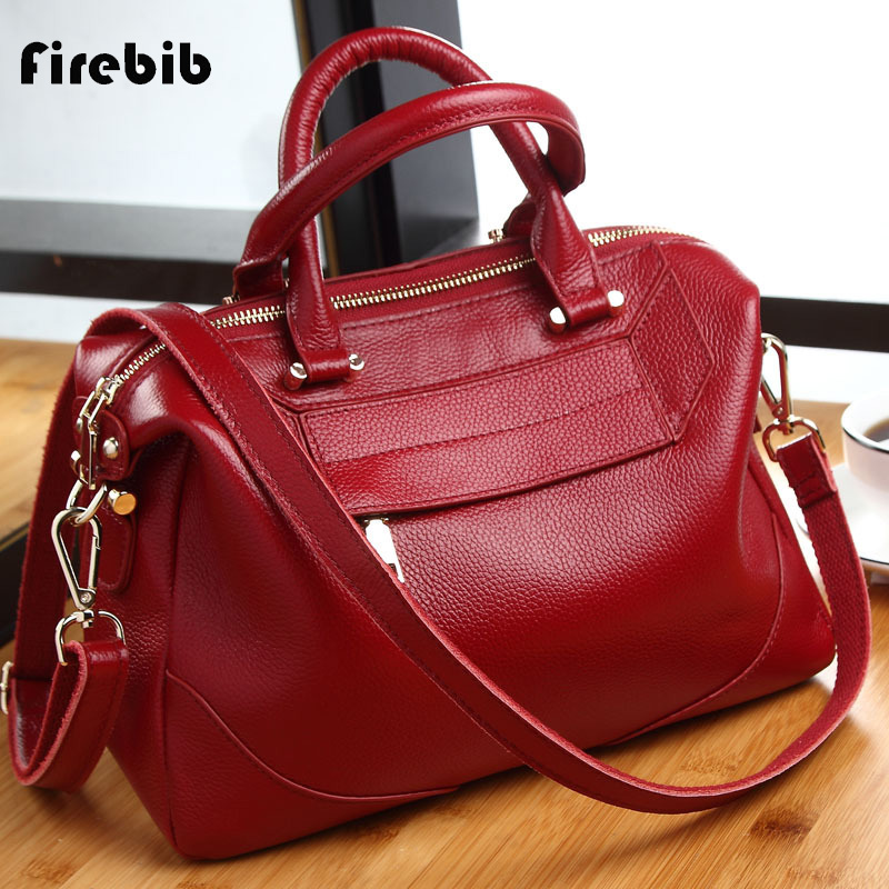 FireBib Brand Women's Cow Leather Handbags Female Shoulder bag designer Luxury Lady Tote Large Capacity Zipper Handbag for Women brand designer large capacity ladies brown black beige casual tote shoulder bag handbags for women lady female bolsa feminina page 2