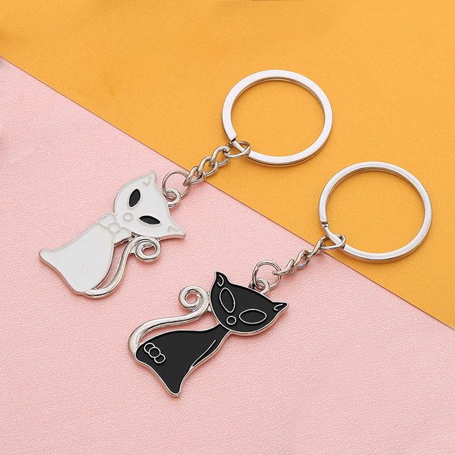7217b5ad8d Couple Cats Bears Keychain for Lovers Kids Cute Animal Bag Key Ring For Car  2019 Hot Sale Key Chain The Birthday Gift llaveros