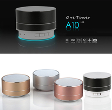 Buy A10 Aluminum Alloy Bluetooth Wireless Portable Speaker with TF Card Music Player Mini Portable HandsFree Bass Speaker directly from merchant!