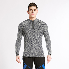 2017 Base Layers Stand collar T shirts Mens Compression tights Long sleeve Fitness Thermal MMA Crossfit Workout Top Gear