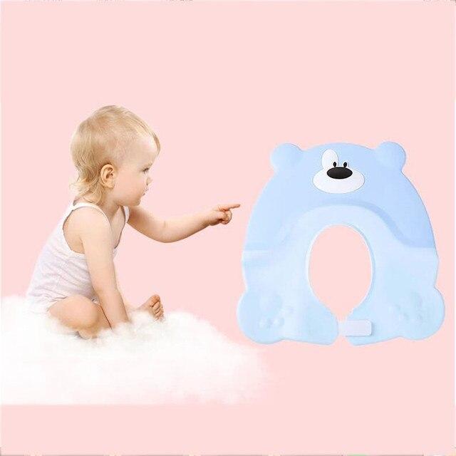 7d57070d20d Newborn Soft Silicone Shower Cap Kids Child Bear Hair Wash Bath Hats  Adjustable Waterproof Ear Protection Eye Shampoo Cap