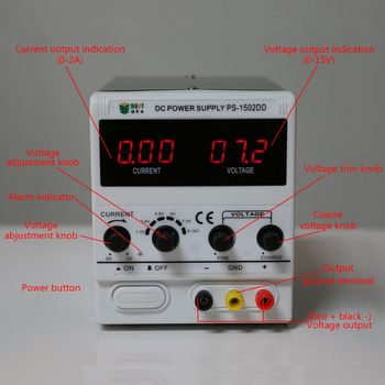 1502DD 15V 2A DC Power Supply Phone Repair LED Stable Voltage Current Regulator