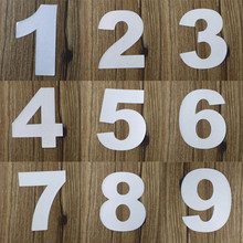 Reflective House Door Address Mailbox Number Digits Numeral Room Gate Car Number 0 1 2 3 4 5 6 7 8 9 Sticker Decal 7cm Height(China)