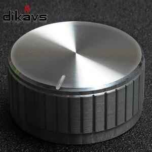Ручка потенциометра 40X19 мм, ручка управления громкостью аудио-Серебристый