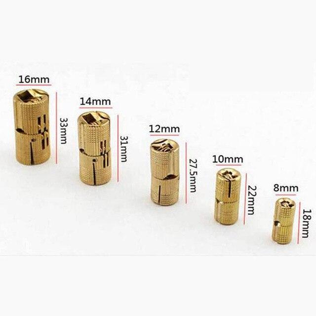New Arrival 4PCS 10mm Copper Barrel Hinges Cylindrical Hidden