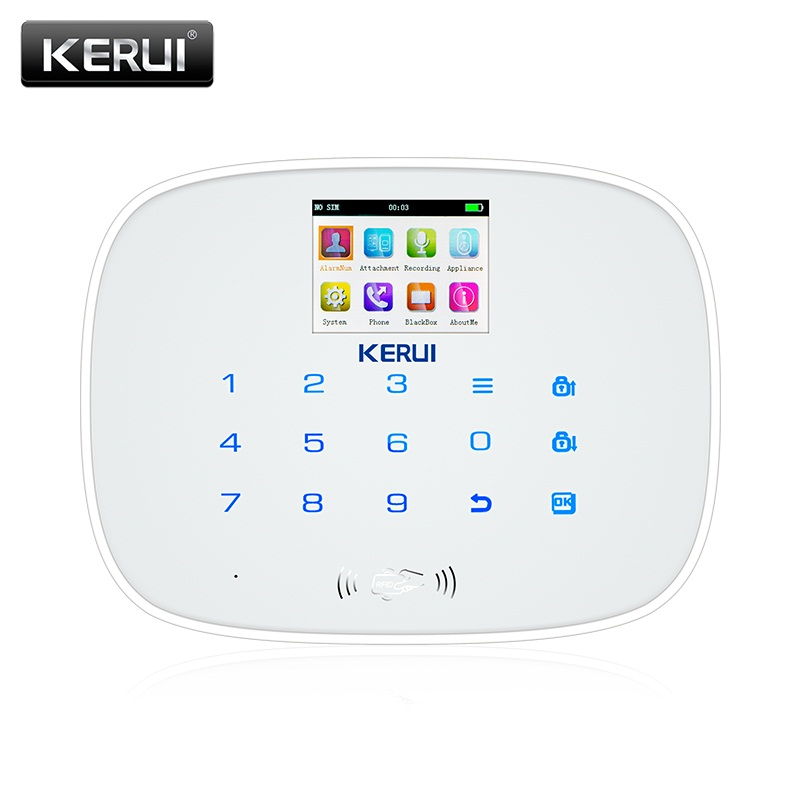 KERUI Black IOS Android APP Wireless GSM Alarm System TFT Color Display Autodial Text Burglar Intruder Security Alarm