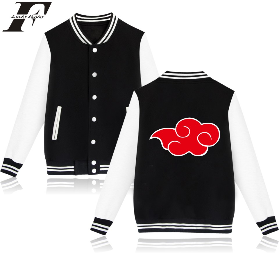 LUCKYFRIDAYF Naruto Baseball font b Jacket b font Japanese Anime Funny Coat Cartoon Sweatshirt Oversized Winter