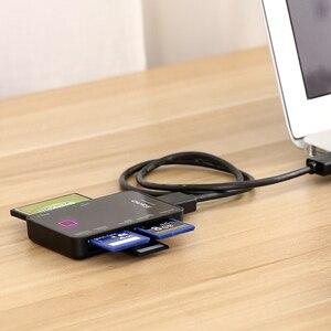 Image 4 - Llano 7 in 1 USB 3.0 Lettore di Smart Card Flash Multi Memory Card Reader per TF/SD/MS /CF 4 Scheda di Lettura SD/micor SD flash card