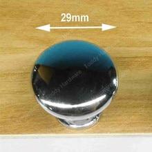 10 шт. 29 мм Отверстие Большой Ручка сплава Цинка Кухонная Мебель ручка ящика ручка блестящей хромированной отделкой