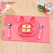 Silicone Children Dinner Dish Plate Health Food Grade Silicone Plate Baby Feeding Bowl Slip Heat Resistant Fruit Food Dinnerware