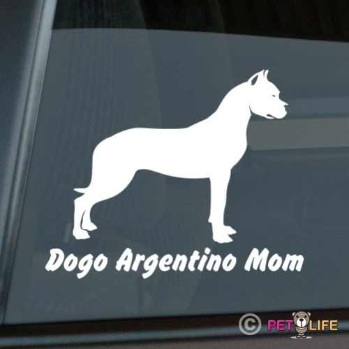 Dogo Argentino Mom Adesivo Die Cut Vinyl window decal 15x12 cm