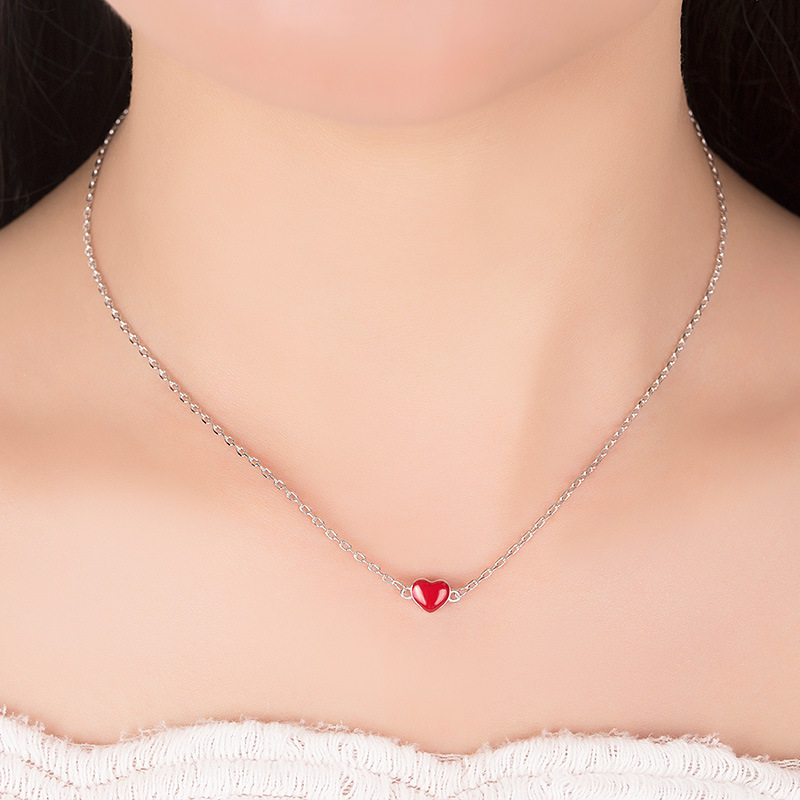 CHP10 for kim customer red pendant heart shape 925 silver 45cm chain send with bag hot sell jewelry pd2 for kim customer send with bag and box 7mm beads 925 silver jewelry for women and men