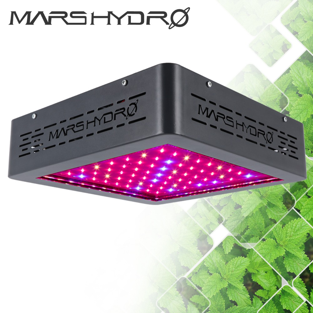 Mars Hydro Aggiornato Mars II 400 W Led Coltiva Lo Spettro Completo Della Luce con le luci A INFRAROSSI di Coltura Idroponica Della Lampada per Interni Scatola di