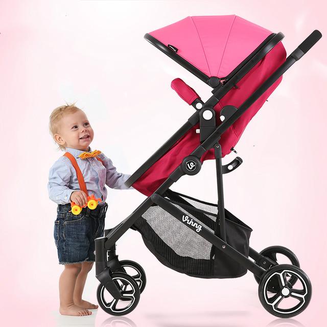 Pneumática da roda do Carrinho de Bebê de Luxo de alta Qualidade À Prova de Choque de Carro Do Bebê Portátil Carrinho de Criança Dobrável Carrinhos para Recém-nascidos
