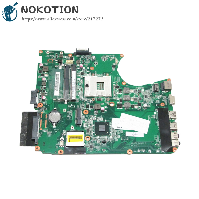 NOKOTION A000080670 DA0BLBMB6F0 For Toshiba Satellite L750 L755 Laptop Motherboard HM65 UMA DDR3 MAIN BOARD