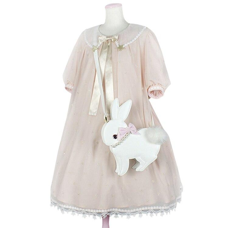 Princess sweet lolita bag Japanese soft sister lovely fashion rabbit bag cartoon female Single Shoulder Satchel bow bag MZSN007 цена 2017
