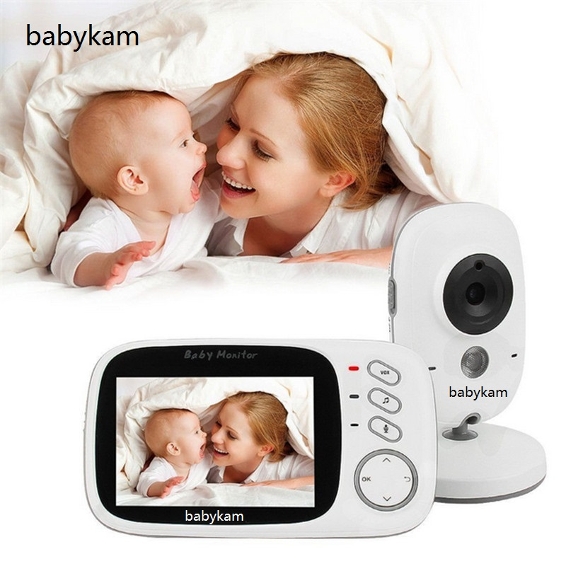 babykam baby camera video nanny 3.2 inch LCD Baby Intercom IR Night Vision Temperature Baby Sensor Monitor Lullaby baby monitor