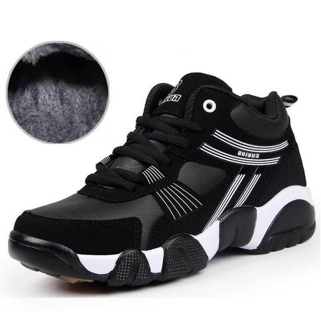 Luxury Brand Мужчины Сапоги Случайные Теплые Ботинки Осень 2016 Осень Зима мужская Обувь Водонепроницаемые Высокие Плюс Размер Обуви Большой 46 47 48 X082603