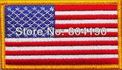 TOP GUN USA American Flag Embroidered Patch Costume 3 5 x 2 25 Sew Iron On