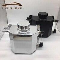 HB Universale 1000 ml Alluminio Catch Olio Può Serbatoio con Tappo di Scarico Lucidato