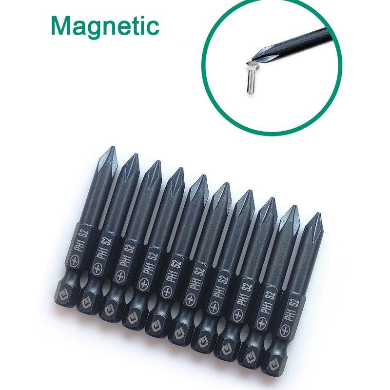 "1//4/"" Hex Phillips PH00 PH0 PH1 PH2 Screwdriver Drill Bit Set 50mm-200mm Magnetic"