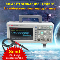 Digital Oscilloscope Digital PC USB Oscilloscopes 100MHz 1GSa/S 7 inch LCD Display USB oscilloscope Data storage oscilloscope