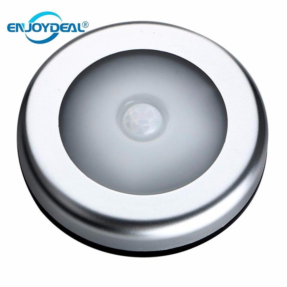 1 шт. 6 светодиодный PIR движения тела Сенсор активированный настенный светильник ночник светильник индукции гардероб коридор шкаф СВЕТОДИОДНЫЙ Сенсор свет батареи
