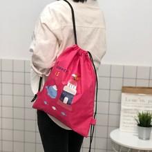 Creative Printing Cartoon Waterproof Backpacks Drawstring Bags Beam Outdoor Sports Fitness Bag Large Capacity Basketball Bag