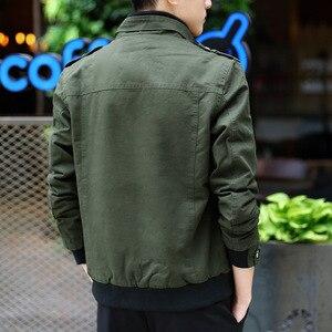 Image 5 - Ispessimento giacca invernale uomo puro cotone abbigliamento da lavoro per il tempo libero 2020 giacche militari invernali cappotto con velluto Denim Park uomo
