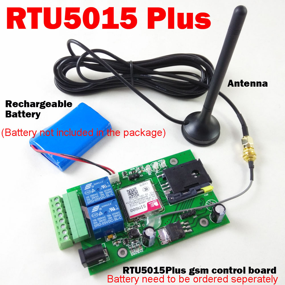 RTU5015 Plus GSM Gate Opener Optional Backup battery for power failure alarm Relay switch Remote Access Control board цена