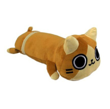 Cute 3ds Anime Monster Hunter Airou Long Cushion Plush Pillow Doll Toy Warm Gift