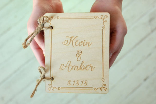 Personalized Wedding Engagement Book Ring Holder Ring Wedding Ring