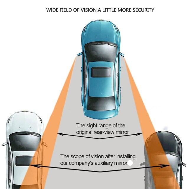 2 pçs/lote 360 Graus Wide Angle Convexo Blind Spot Espelho de Carro Estacionamento Auto Vista Traseira Da Motocicleta Espelho Ajustável