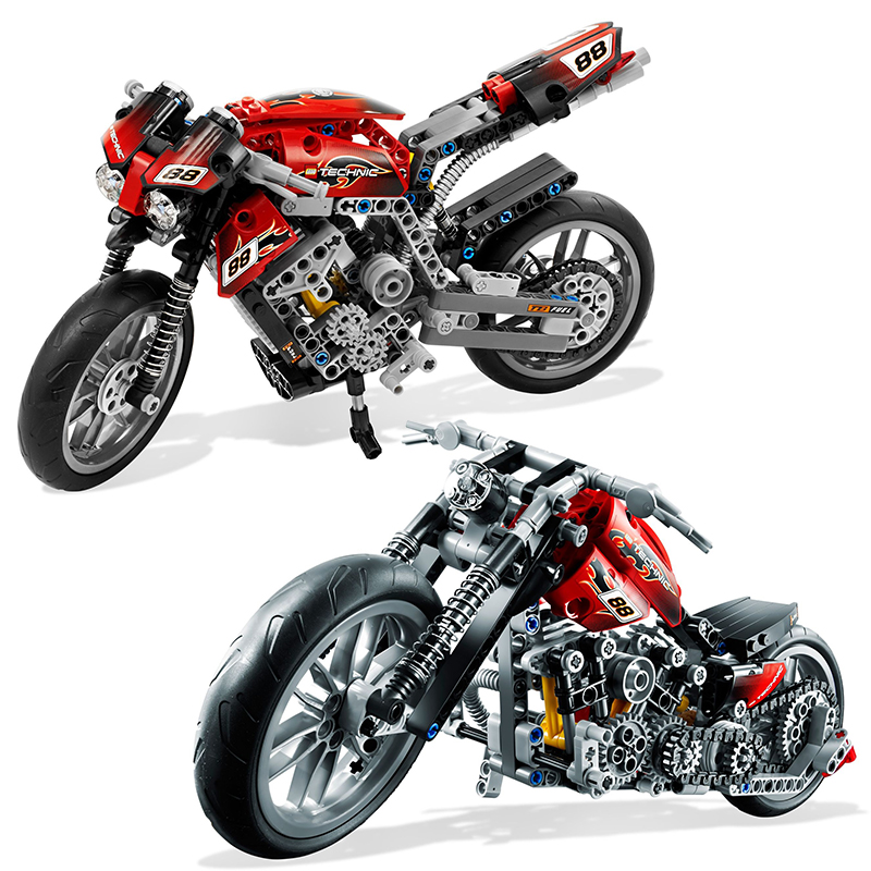 Decool 3353 3354 Lepin Technic Motorbike Motorcycle Car building bricks blocks toys for children Boy Game Gift Bela 8051