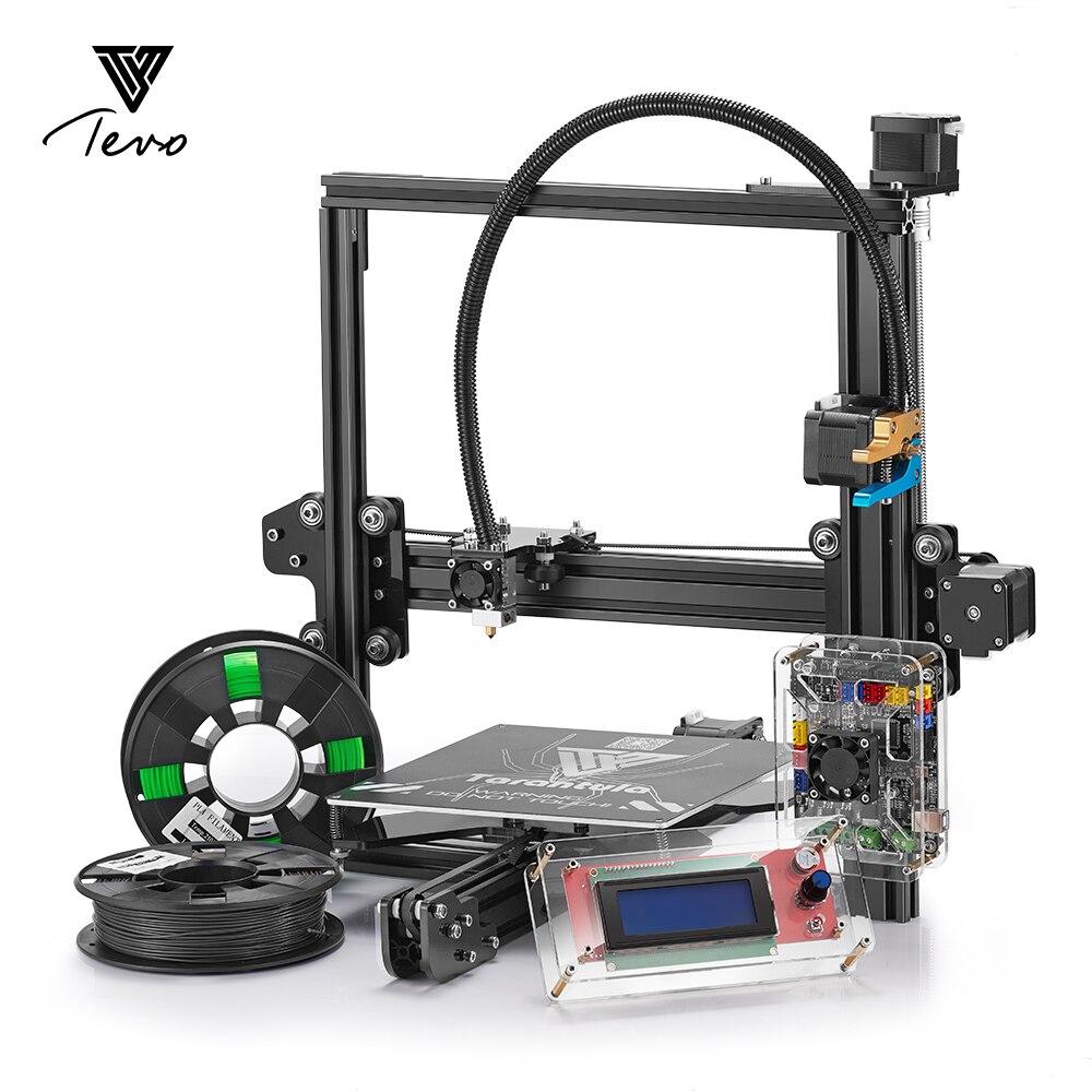 2018 Date TEVO Tarantula 3D Imprimante Impresora 3D DIY Impressora 3D avec Filament micro SD Carte Titan Extrudeuse I3 3d imprimante