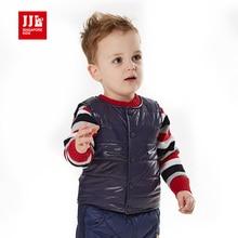 2015 зимний жилет для мальчиков хлопка-проложенный жилет жилет дети зима верхняя одежда soild цвет детские теплое пальто