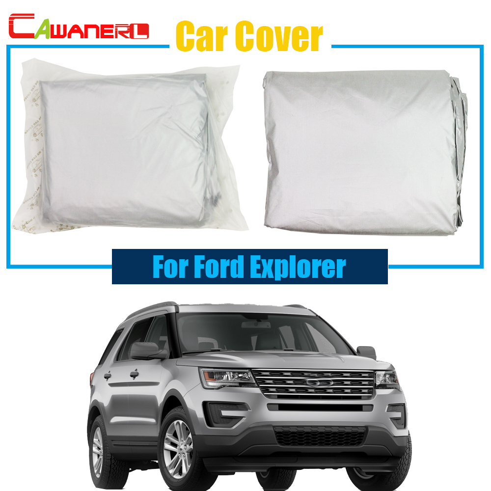 Cawanerl Full Car Cover Sun Snow Rain Resistant Protection Anti UV Cover For Ford Explorer Free