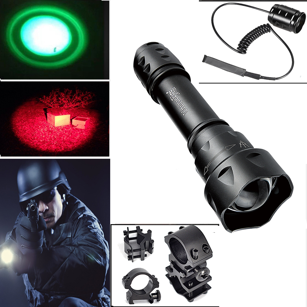 цены  UniqueFire Portable Mini Flashlight UF-T20 XRE LED Black Body Tactical Light With 18650 Battery, Lamp Torch+Gun Mount+Rat Tail