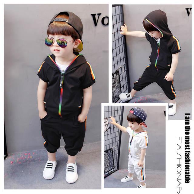 a57bc194e Online Shop Kid Boy Girl Clothes Sportswear Summer 2018 Fashion ...