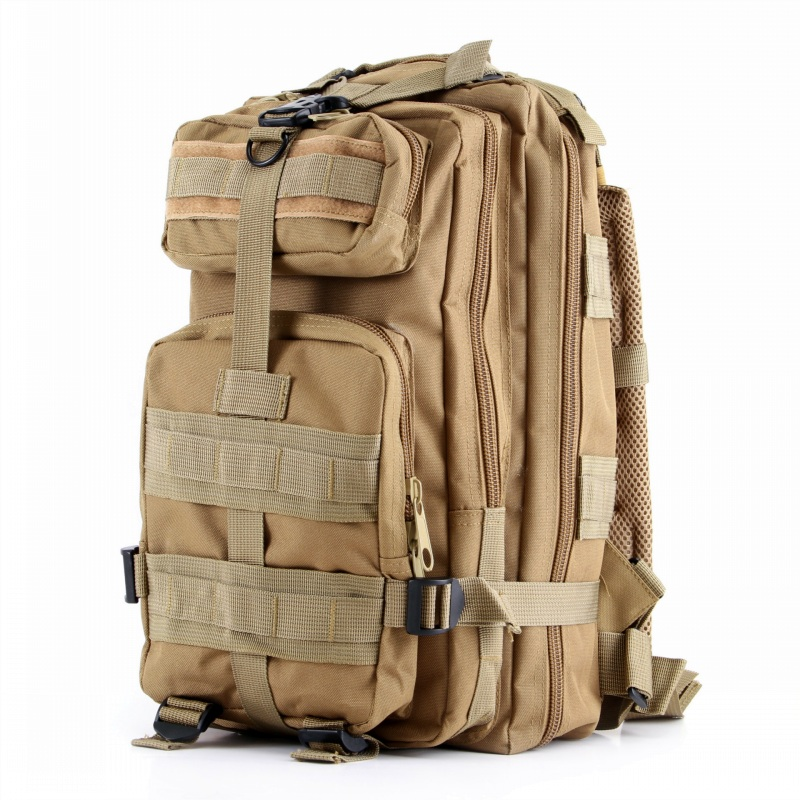 CQC Outdoor Sport Military Tactical Molle 3P Assault Backpack Camping Hiking Climbing Rucksack Trekking Hunting Bag mens canvas bags waterproof molle backpack military 3p school trekking ripstop woodland gear men assault cordura bag packsack