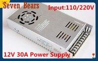 12 V 30A 360 W conmutación adaptador de alimentación de tira llevada del transformador 12 V libere el envío vía china