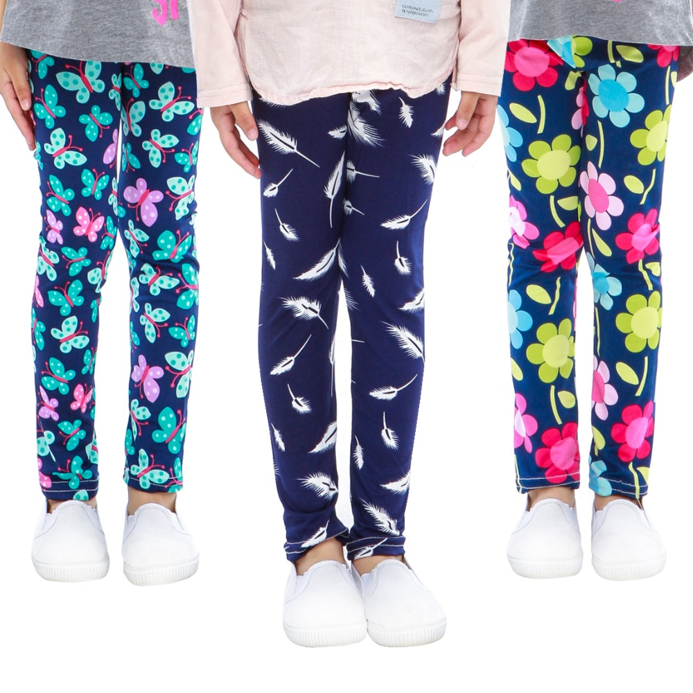 SLAIXIU Girls Leggings For Girls Baby Girl Clothes Camo Pencil Pants Soft Cotton Kids Trousers Printing Flower Children Leggings children s clothes girls autumn cotton pants kids casual jeans leggings blue color female child star hole trousers pencil pants