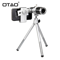 OTAO 12X Zoom Mobile Phone Telescope Universal Mobile Telephoto Camera Lens Clip Portable For IPhone For