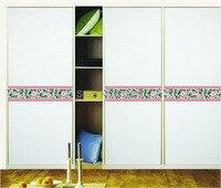 [Fundecor] Plum waist baseboard wall sticker home decor bathroom tile kitchen glass doors waterproof removable 6873
