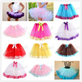 2015 many colors Princess Dance Party Silk Ribbon Lace Suit Ball Party Spring Summer Autumn Baby Skirt Big Bow Tutus girls skirt