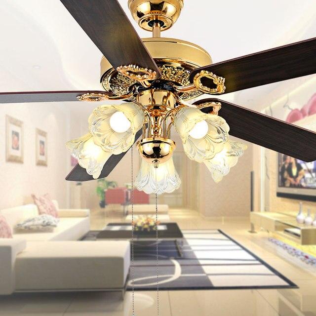 decorative ceiling fan 5203 flower glass shade 48 inch ceiling fan