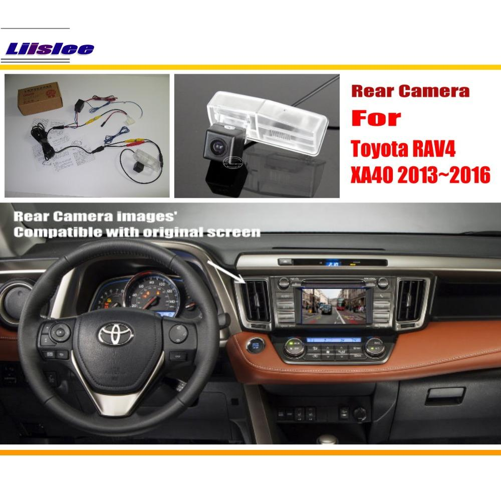 Liislee Untuk Toyota RAV4 RAV 4 XA40 2013 ~ 2016 / RCA & Skrin Asal Serasi Rear View Camera / Back Up Reverse Camera Set