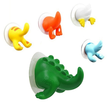 Cute Cartoon Animal Tail Sucker Suction Hook Baby Bathroom Towel Hanger Holder