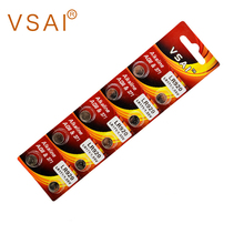 VSAI 10pcs/pack AG6 LR920 371  Button Cell Alkaline Battery 1.5V